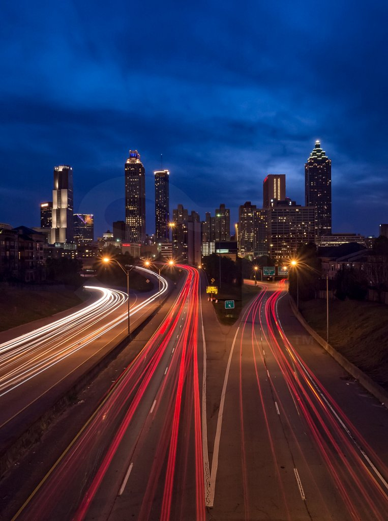 Freedom Parkway Through Atlanta